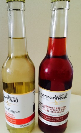 Sparkling ciders, made by the Cider Brewery Denis Chardonneau