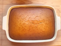 Sweetened condensed milk rum cake