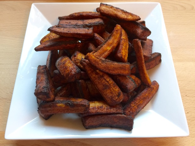 Plantain fries with ginger