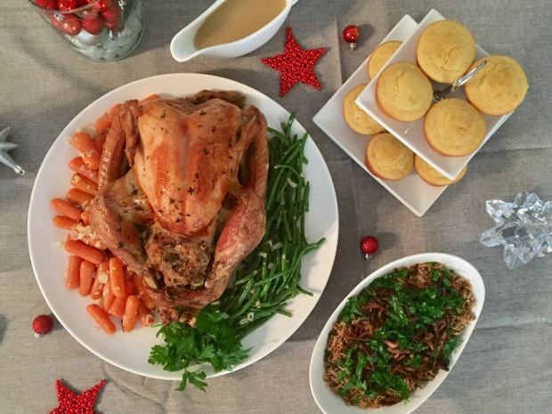 Christmas roasted Turkey with sausage meat stuffing