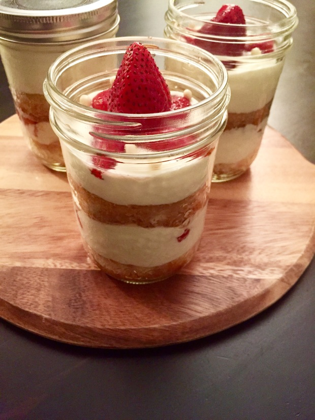 Strawberry Fraisier Trifles