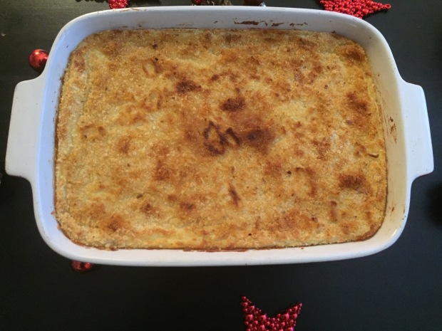 My baked Christmas garlic mashed potatoes
